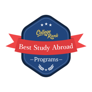 College Rank best places to study abroad badge