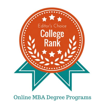 top online MBA programs college rank badge