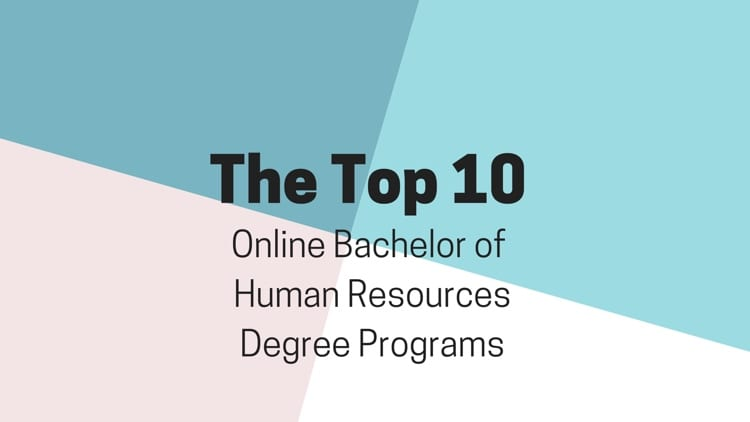 The Top 10 Online Bachelors Of Human Resources Degree