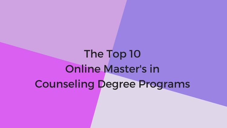 The Top 10 Online Masters In Counseling Degree Programs College Rank