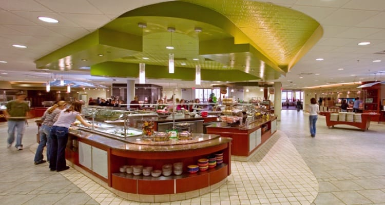 The 50 best college dining experiences college rank each dining location features feeding fitness options based on the american dietetic associations health recommendations including foods ccuart Gallery