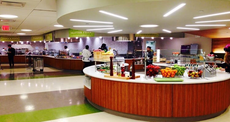 The 50 best college dining experiences college rank for Latest dining hall designs