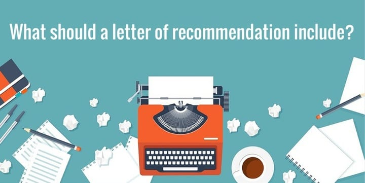 what should a letter of recommendation include