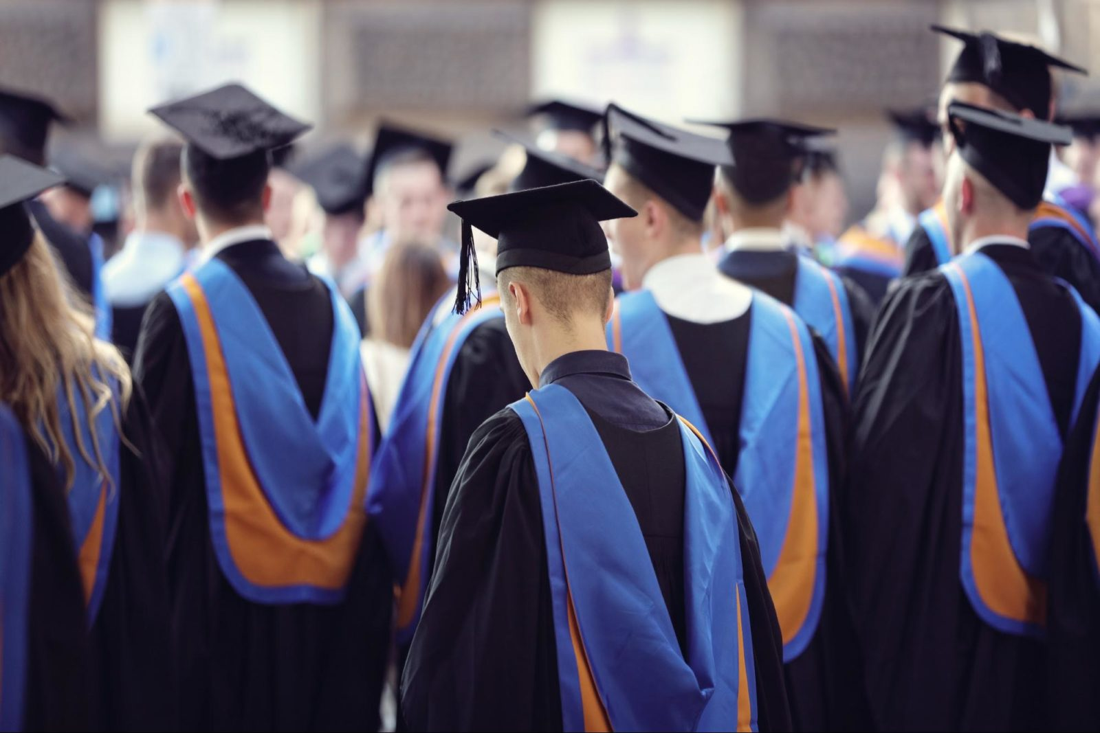 doctorate degree: University graduates at graduation ceremony